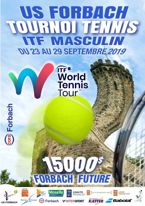 Affiche du tournoi organisé par l'US Forbach de Tennis