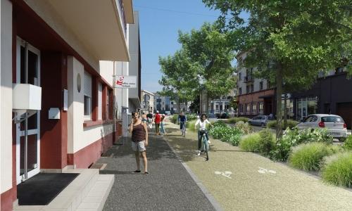L'avenue Saint-Rémy en 2022