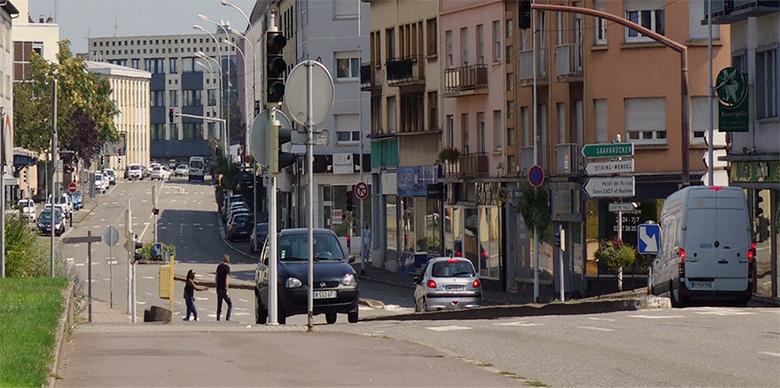 Avenue Saint-Rémy à Forbach