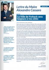 Lettre du Maire Alexandre Cassaro n°1